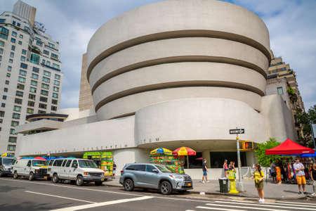 NEW YORK CITY, USA - MARCH 15, 2020: Solomon R. Guggenheim Museum in New York City, NY, USA