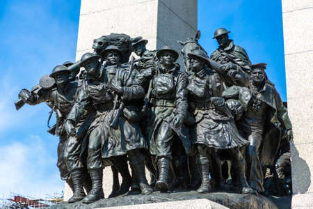 OTTAWA, CANADA - APRIL 2, 2020: The National War Memorial in Ottawa in a sunny day, Canada