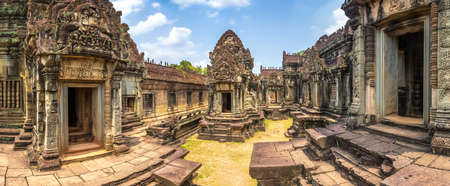 Panorama of Banteay Samre temple in complex Angkor Wat in Siem Reap, Cambodia in a summer day Фото со стока