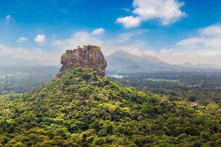 Lion Rock in Sigiriya in a sunny day, Sri Lanka