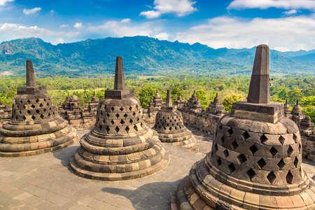 Buddist temple Borobudur near Yogyakarta city, Central Java, Indonesia