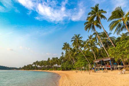 Beautiful tropical beach in a summer day