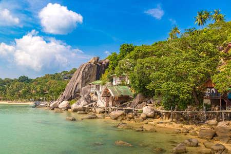 Taa Toh tropical beach at Koh Tao island, Thailand