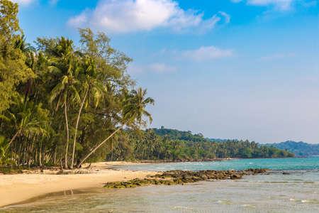 Ao Tapao beach at Koh Kood island, Thailand in a sunny day