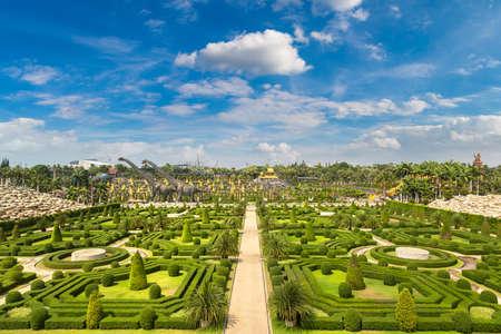 Nong Nooch Tropical Botanical Garden, Pattaya, Thailand in a sunny day