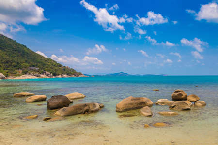Silver Beach on Koh Samui island, Thailand in a summer day Фото со стока