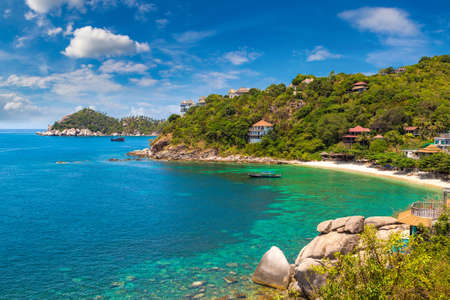Panoramic aerial view of Koh Tao island, Thailand