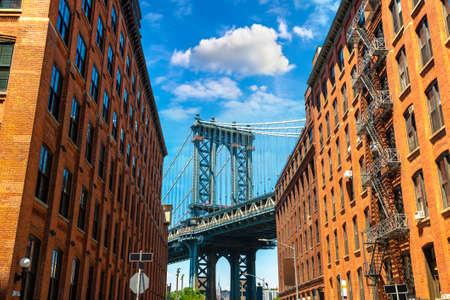 Manhattan Bridge in New York City, NY, USA