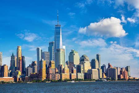 Panoramic view of Manhattan cityscape in New York City, NY, USA Standard-Bild