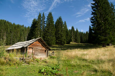 Shack in the mountains