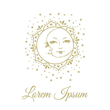 Bohemian Sun And Moon with gold glitters