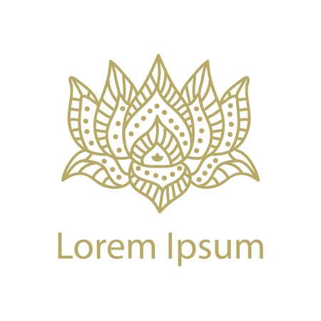 Ornamental Lotus Flower Illustration