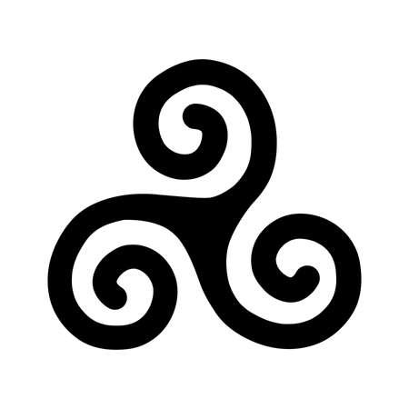 Triple Spiral, ancient Celtic symbol Illustration