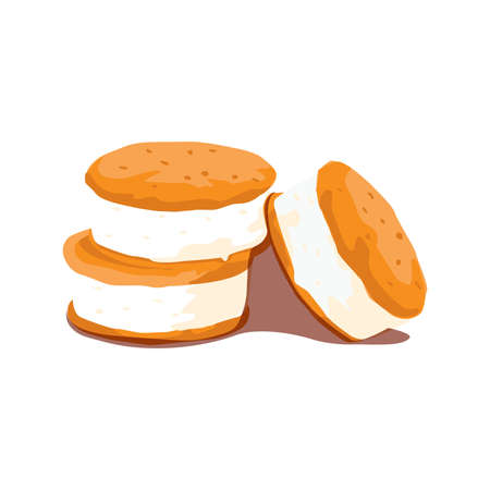 homemade ice cream sandwiches Illustration