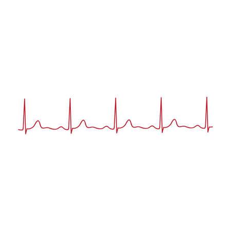 heart line, cardiogram