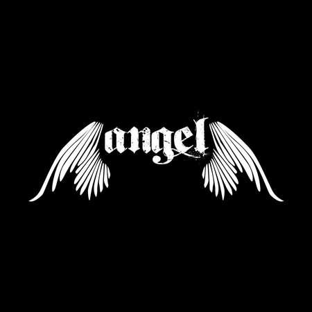 Illustrazione di concetto di ali d'angelo Vettoriali
