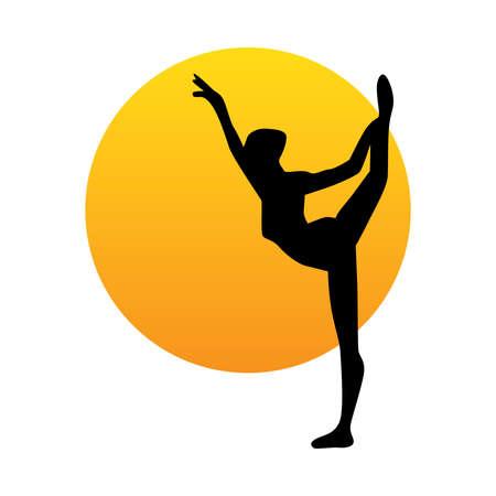 woman practicing gymnastic Foto de archivo - 102565242