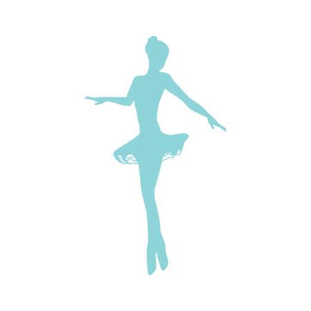 elegant  ballet dancer vector illustration