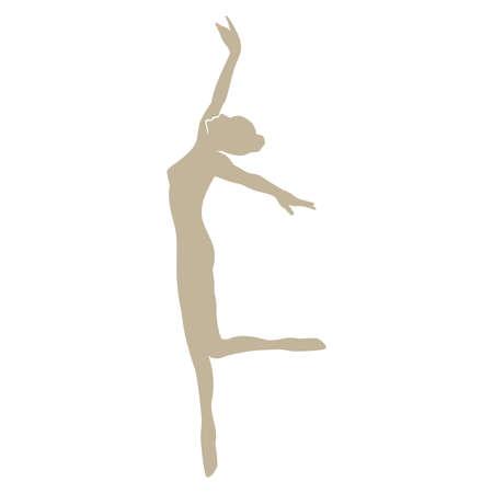 Ilustración de vector de bailarina de ballet elegante