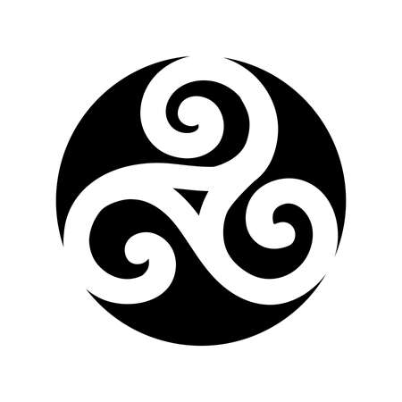 Triple Spiral, ancient Celtic symbol Ilustrace