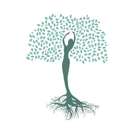 dama drzewko, połączenie z naturą