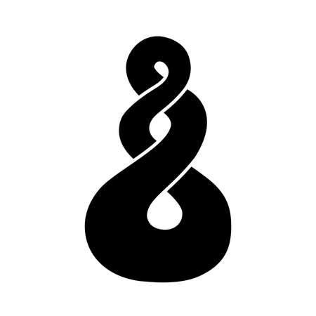 The pikorua,Twist, Maori love symbol