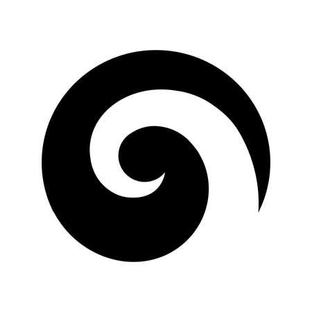コル、シルバーシダフロンドをベースにしたスパイラル形状、マオリのシンボル 写真素材 - 109512124