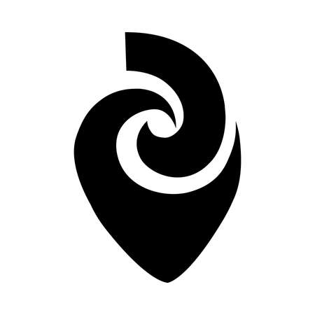 Matau. Maori symbol, fish hook, represent prosperity, abundance, fertility and strength