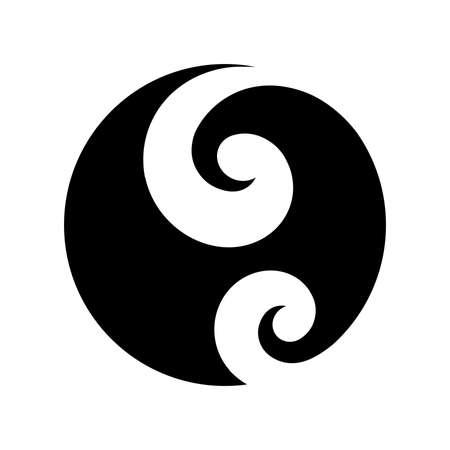 Koru, Spiral shape based on silver fern frond, Maori symbol