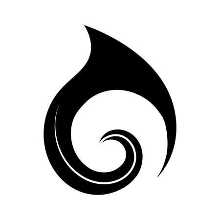 Koru, forme en spirale basée sur une fronde de fougère argentée, symbole maori