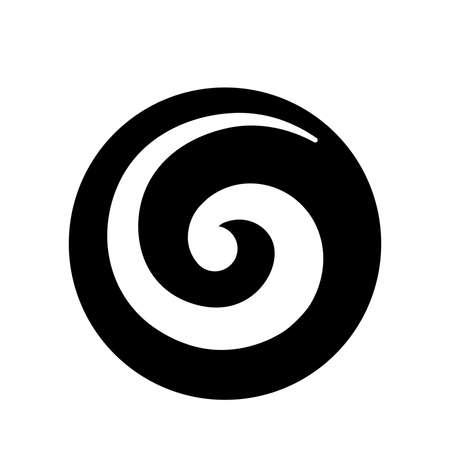 Koru, spiraalvorm gebaseerd op zilveren varenvarenblad, Maori-symbool