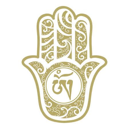 Hamsa Hand Illustration