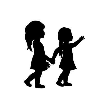 두 어린 소녀