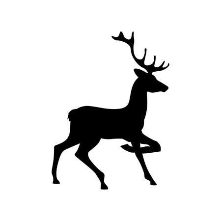 black deer vector template