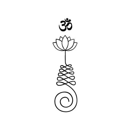 Unalome, Buddhist symbol for life path Vector Illustration