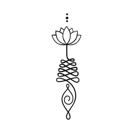 Unalome, buddhistisches Symbol für den Lebensweg