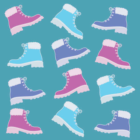 colorful winter boot