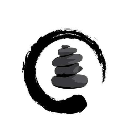 Black Zen Stones,  icon design 일러스트