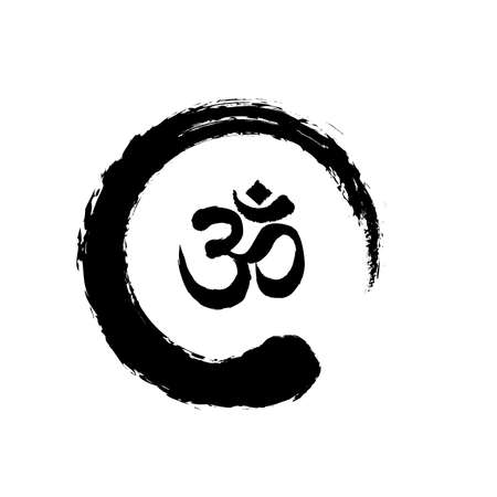 Conception d'icône de symbole Zen et OM