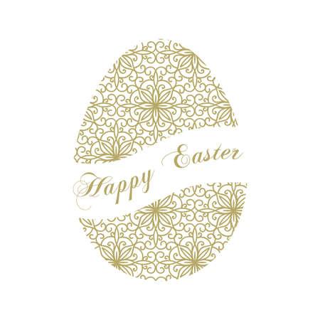Happy Easter theme, ornamental egg