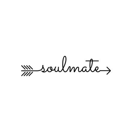 typography: word soulmate starts an ends with arrow