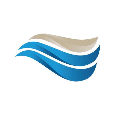 abstract ocean wave 向量圖像