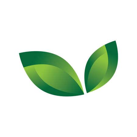 추상 녹색 잎 벡터 (일러스트)