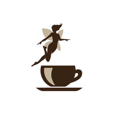 coffee fairy icon Illustration