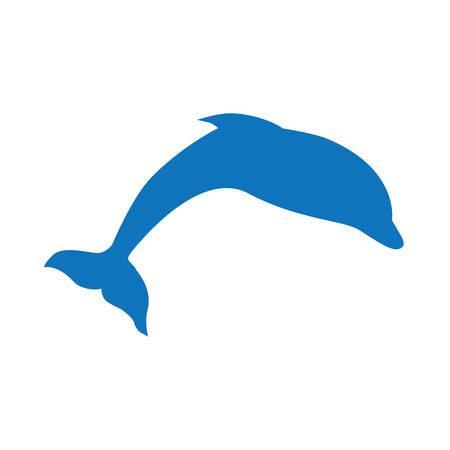 blue dolphin, vector