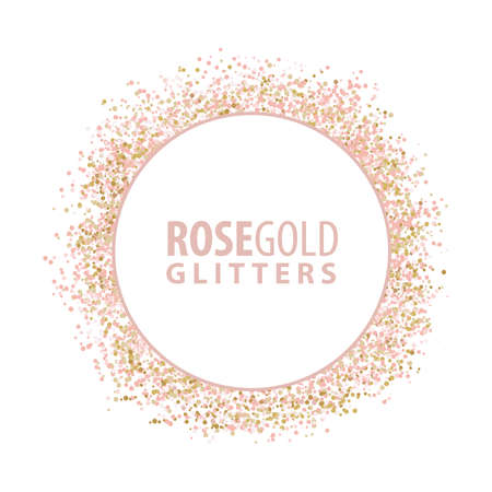rosegold glitters, vector