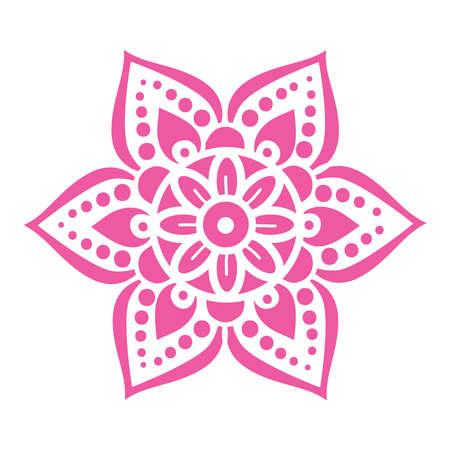 ornamental flower, mandala Illustration