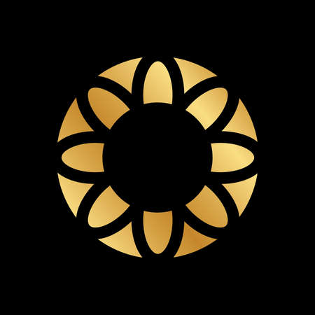 gold  floral frame, vector