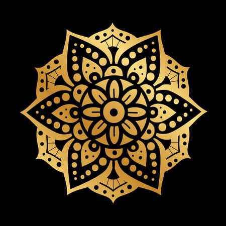 gold ornamental  icon, vector