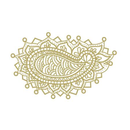 gold ornamental  illustration, vector Illustration
